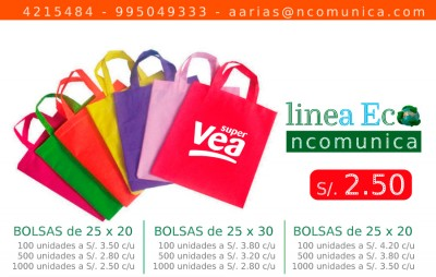 bolsas ecologicas notex o cambrel
