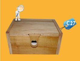 Caja para Pisco c27 publicitaria